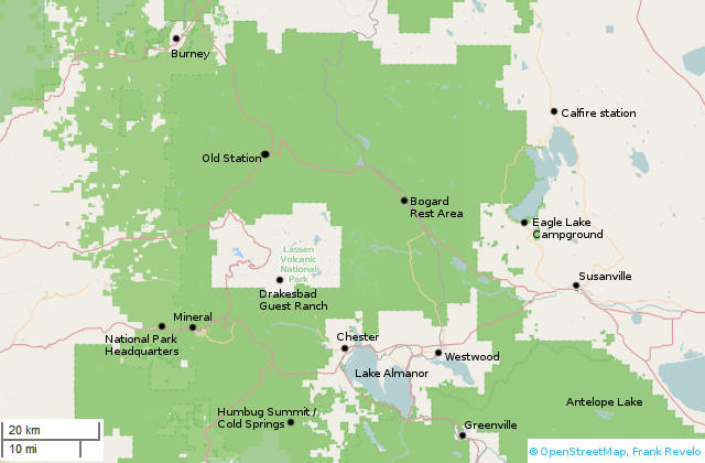 Bicycle Touring Lassen And Plumas National Forests - Us national forests on a map